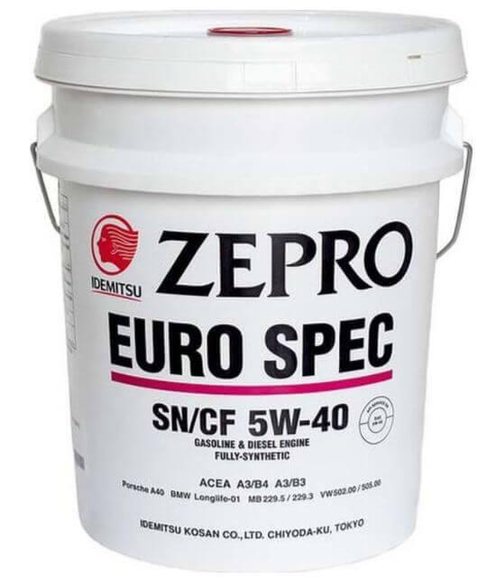 Обзор на моторное масло idemitsu zepro euro spec 5w-40 sn/cf, fully-synthetic синтетика : характеристики, отзывы