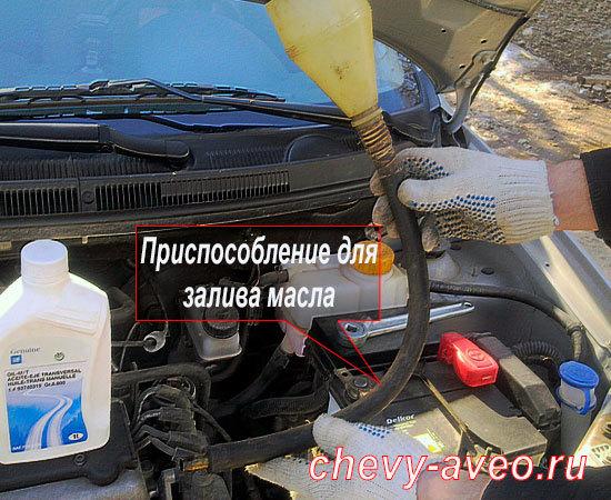 Сколько масла в МКПП (коробке передач) Шевроле Авео Т250