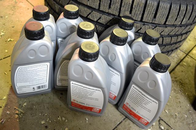Сколько масла в АКПП (коробка автомат) Ауди q7