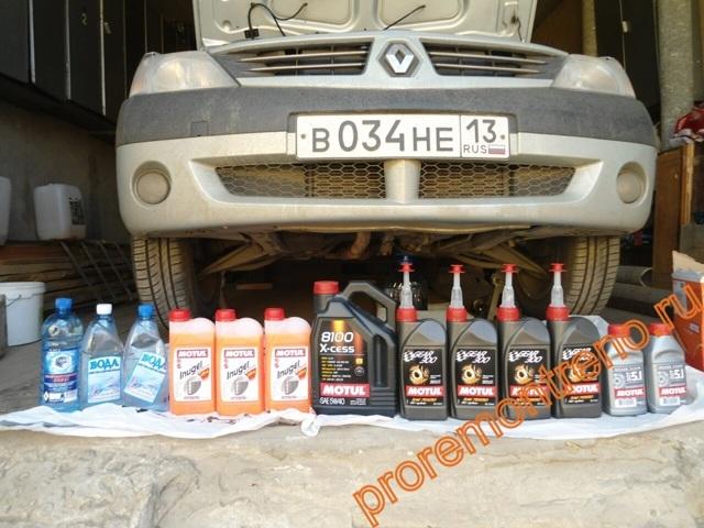 Сколько масла в АКПП (коробка автомат) Рено Логан 1.4
