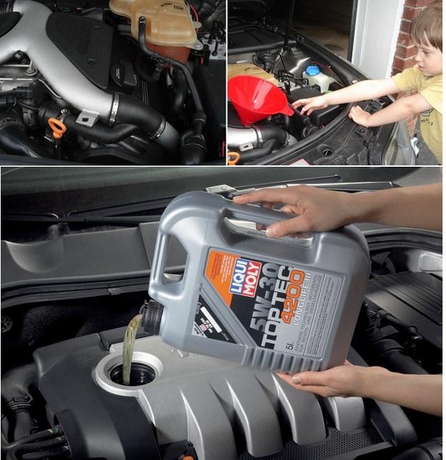 Какое масло заливать в двигатель Ауди А6 С6