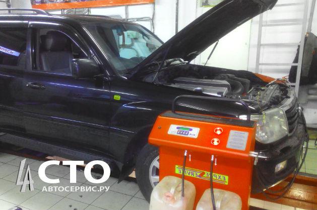 Сколько литров масла нужно заливать в АКПП Тойота Ленд Крузер 100
