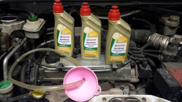 Сколько масла в МКПП (коробке передач) Чери Индис